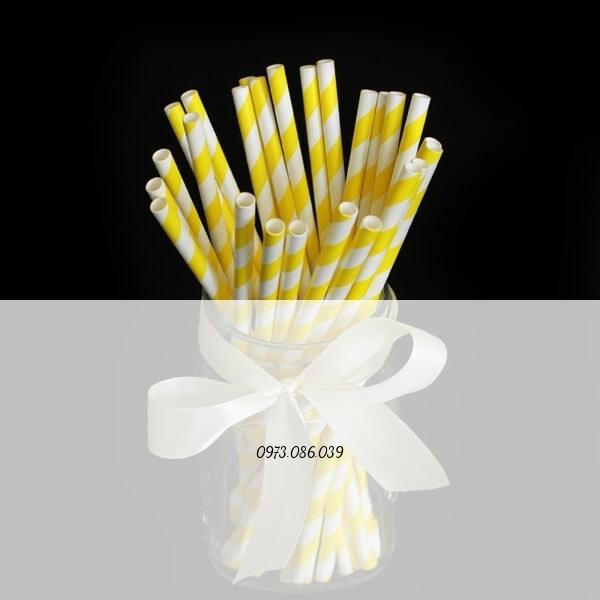 ông hút giấy màu vàng