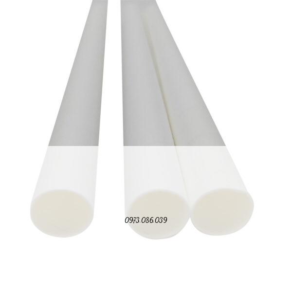 ống hút giấy 12mm màu trắng