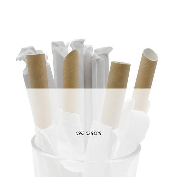 ống hút giấy màu nâu