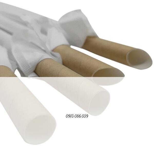 ống hút giấy 12mm cắt nhọn