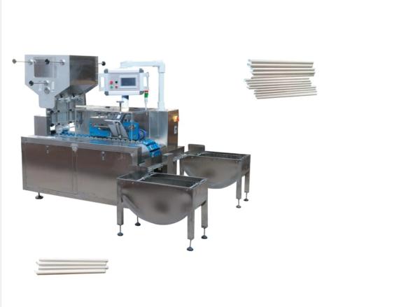 máy cắt chéo ống hút giấy